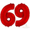 """Шар цифра 6 и 9 """"Красная"""""""