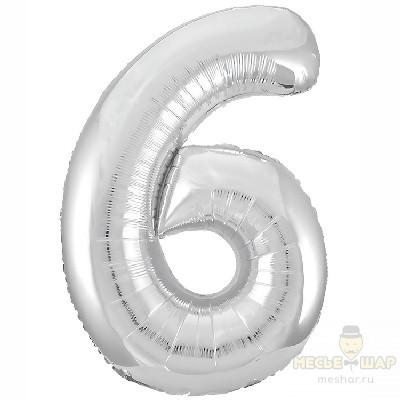 Шар цифра 6