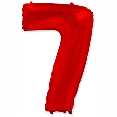 """Шар цифра 7 """"Красная"""""""