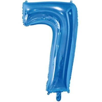 """Шар цифра 7 """"Синий"""""""