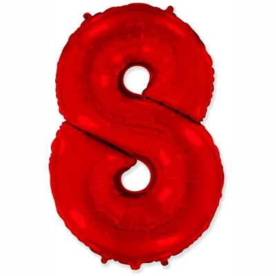 """Шар цифра 8 """"Красная"""""""