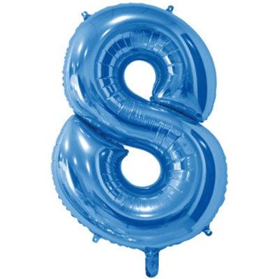 """Шар цифра 8 """"Синий"""""""