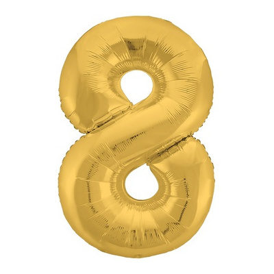 """Шар цифра 8 """"Золото"""""""