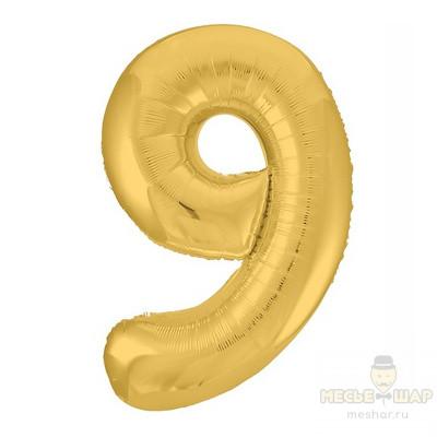 Цифра 9 золото