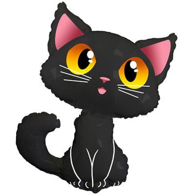"""Шар """"Черный кот"""" 85 см"""